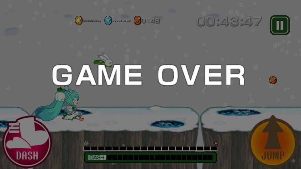 酷跑雪初音2015游戏截图1
