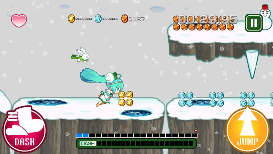 酷跑雪初音2015游戏截图2